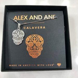 Alex and Ani Calavera Chain Station Necklace